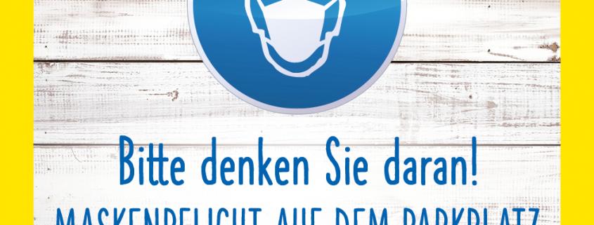 Beitragsbild Aktuelles Maskenpflicht auf dem Parkplatz