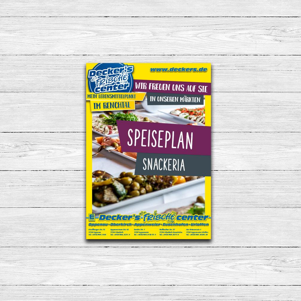 Speiseplan Opener – Snackeria